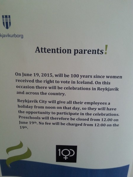 Attention Parents - 100 years of women's suffrage
