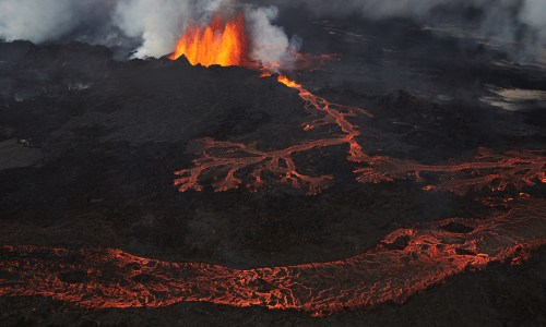 Toxic Fumes Coming Out Of Holuhraun