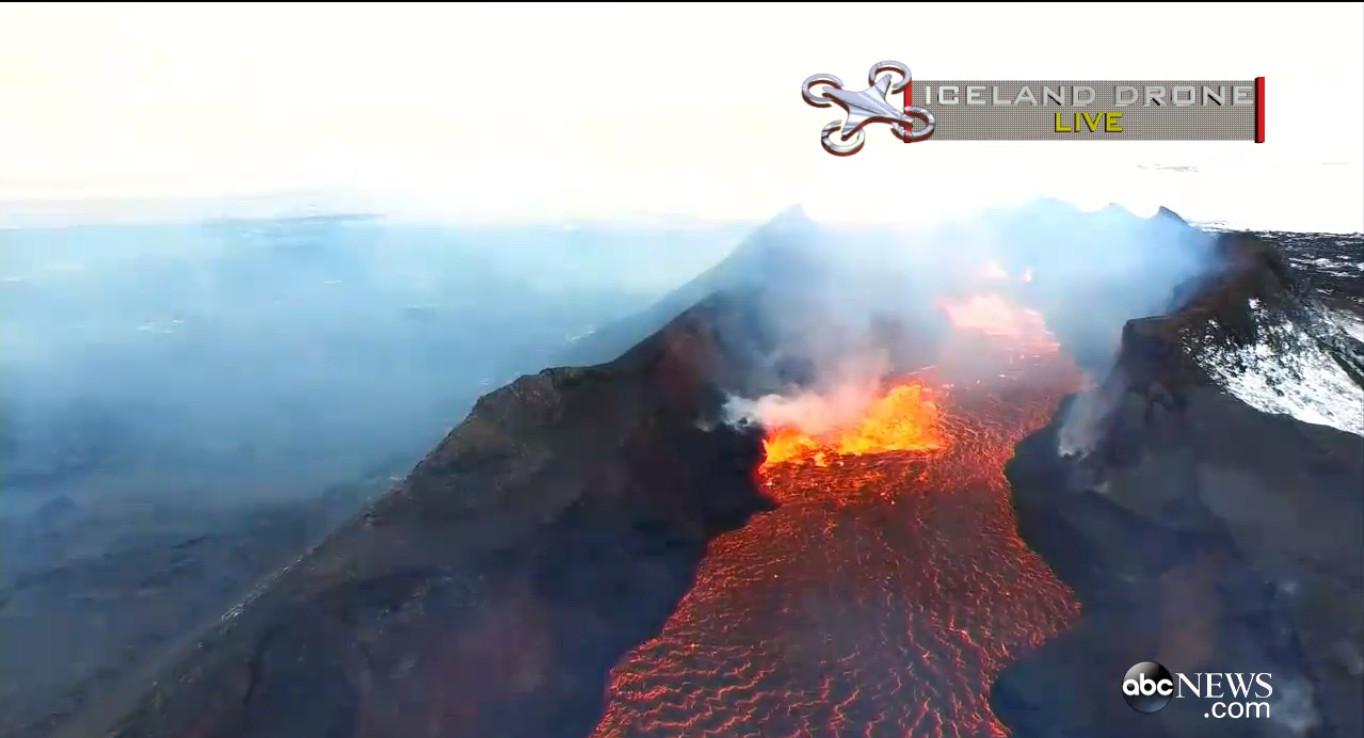 Drone Footage Of Bárðabunga