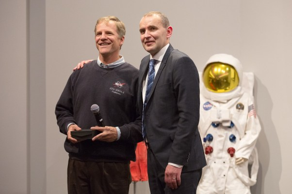 Astronaut Scott Prazynski and President of Iceland Guðni Th. Jóhannesson