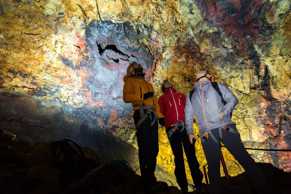 The volcanic caves can be as high as 120 meters
