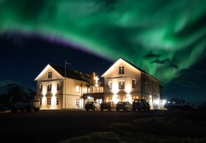 Aurora borealis northern lights Hotel Búðir by_bicnick