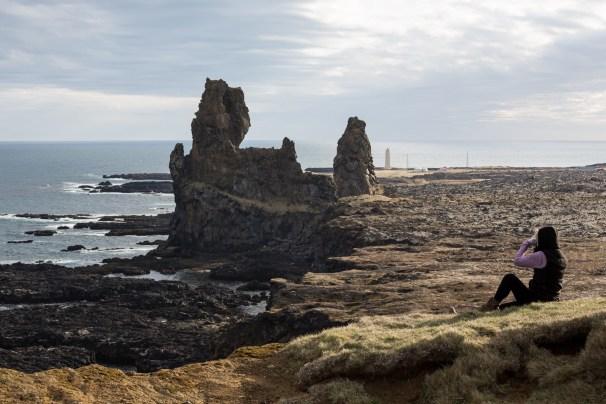 Lóndrangar - Rock Cliffs in Water