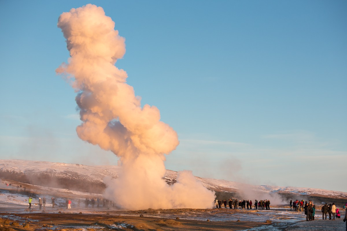 PHOTOS: Geysir And Strokkur In Winter Mode