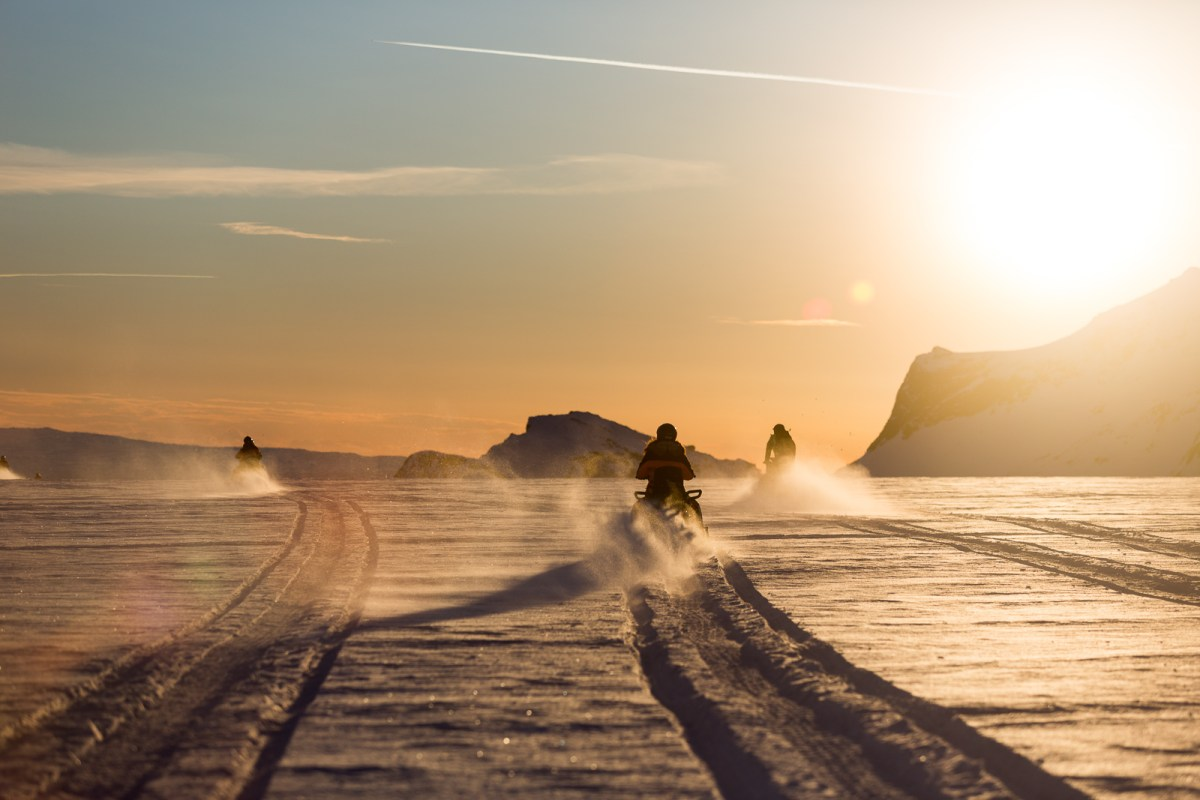 PHOTOS: Snowmobiling On Langjökull