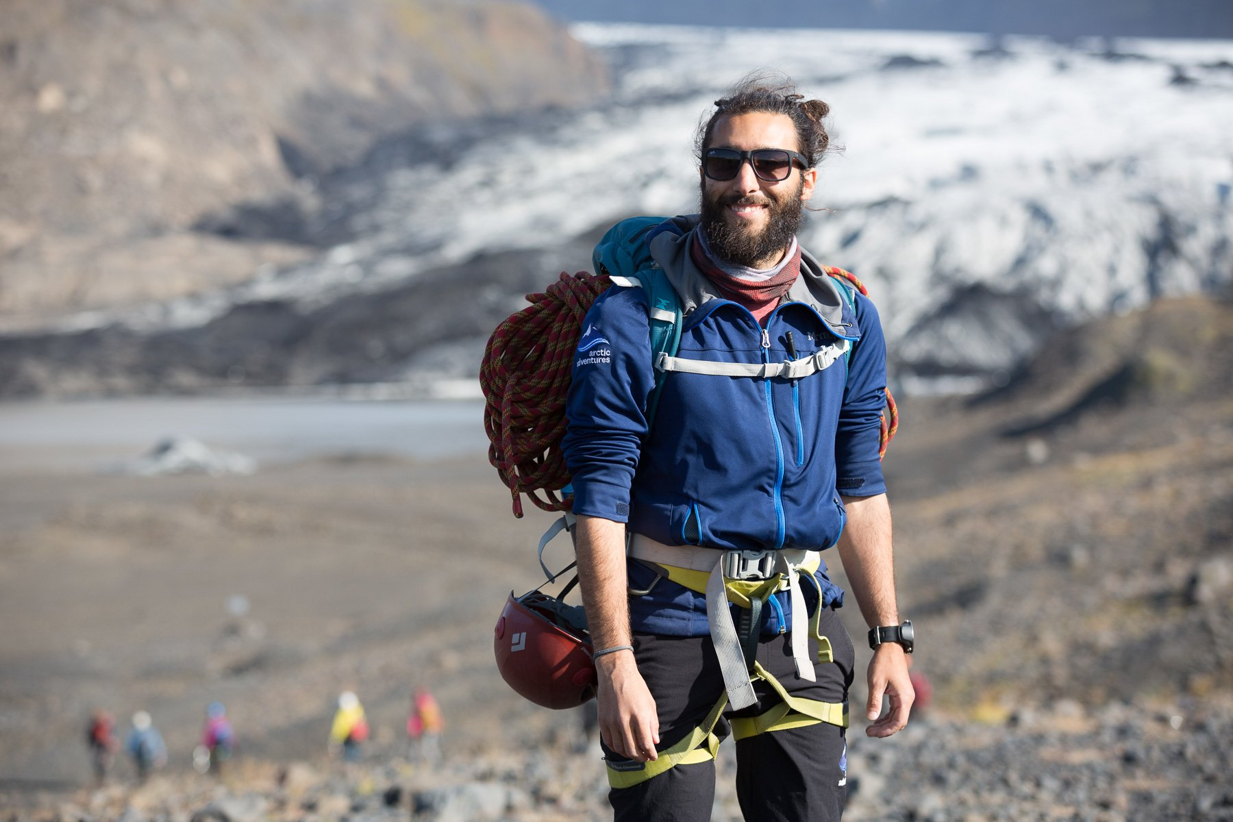 Hiking, backpacker, Svínafellsjökull bicnick
