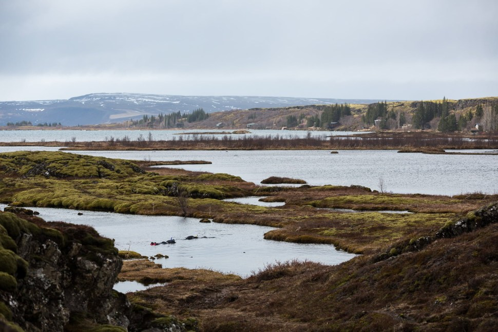 Beautiful scenery of the Þinkvellir National Park