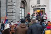 Protest at Landsbanki