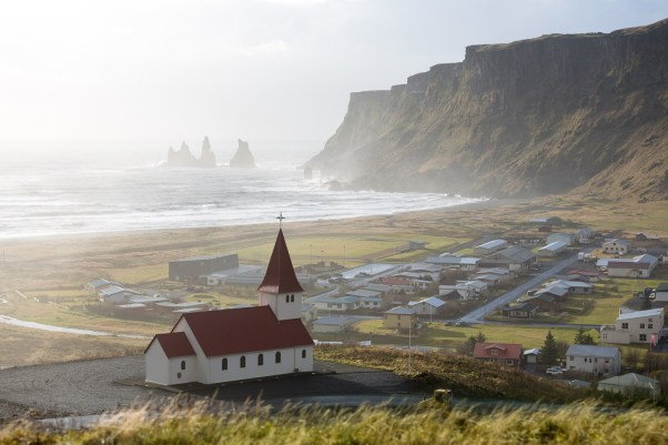 Popular tourist destination, Vík