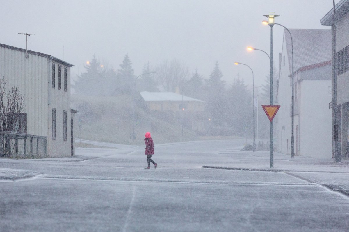 Snow Comes To North And East Iceland