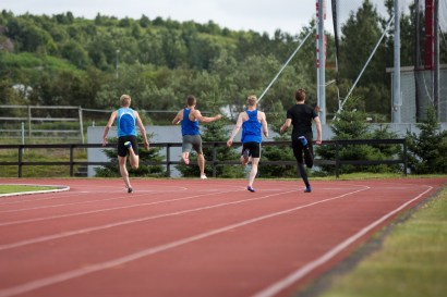 ...and surprise! Iceland's fastest man wins the race!