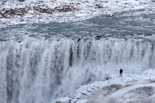snow in dettifoss by art bicnick