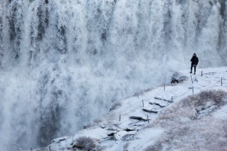 snow at dettifoss by art bicnick