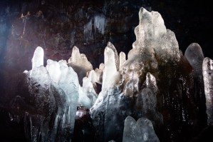 Icecles In The Cave by Art Bicnick