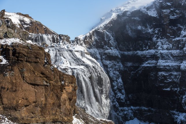 Glymur - the highest waterfall in Iceland