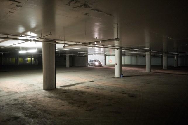 It's 07:00 when Jarek arrives to Harpa's empty parking lot. Nobody is around yet.