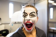 17:51— Erna Ómarsdóttir, the artistic director of the Iceland Dance Company and one of the stars of the show, getting into character