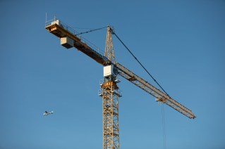 It's a bird! It's a plane! It's a gigantic yellow crane!