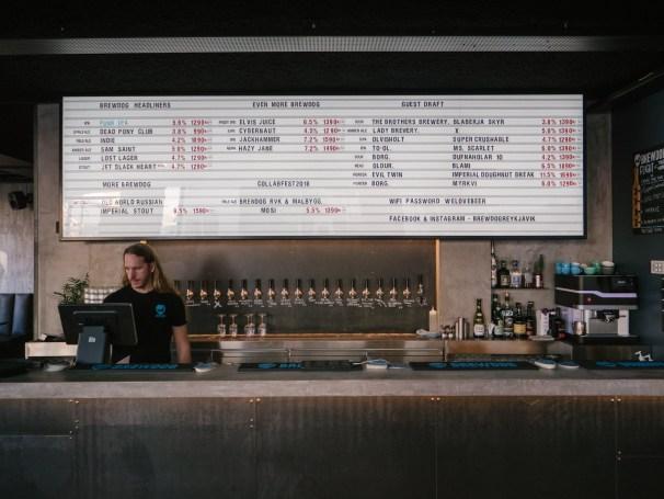 A photo of the bar at Brewdog