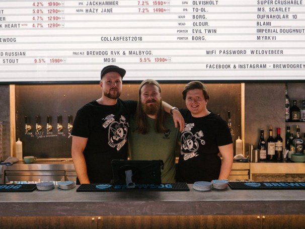 Photo of the Brewdog team