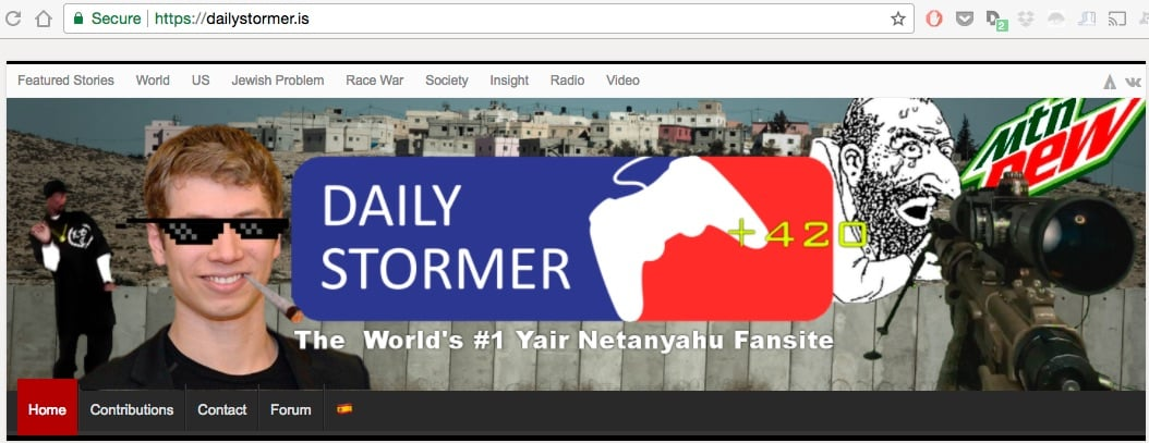 DailyStormer Likely Losing Its .IS Domain Today
