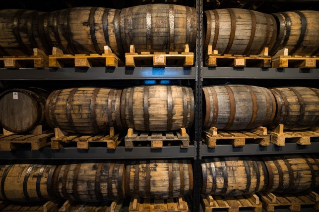 A stack of barrels