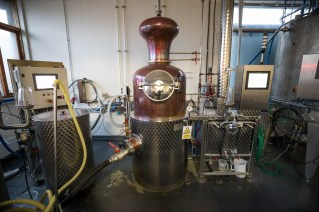 A contraption for distilling spirits