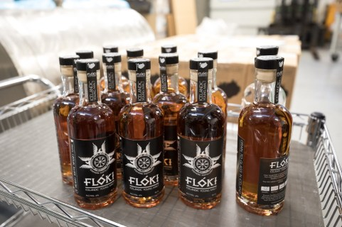Bottles of Icelandic Whiskey brand, Fróði