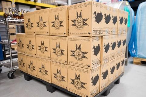 Boxes of Icelandic Whiskey