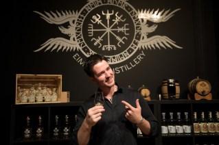 Distillery tourguide in good spirits