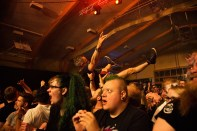 It's no metal concert without crowd surfing.