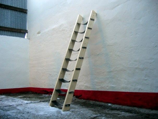 Emotional Ladder, wood, rubber copy