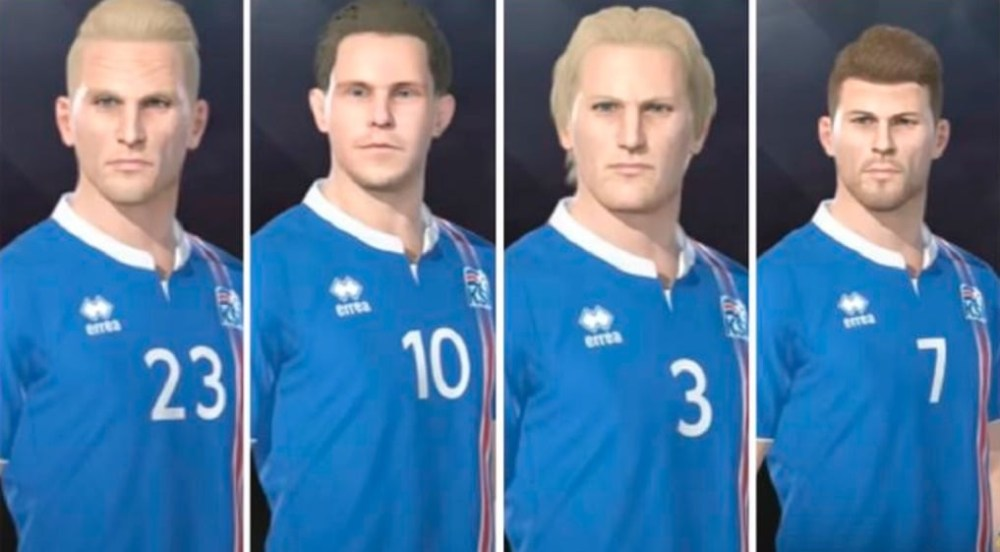 Pro Evolution Soccer Turns Icelandic National Team Into Creeps