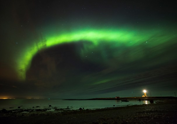 Grótta Lighthouse is the best place to see northern lights