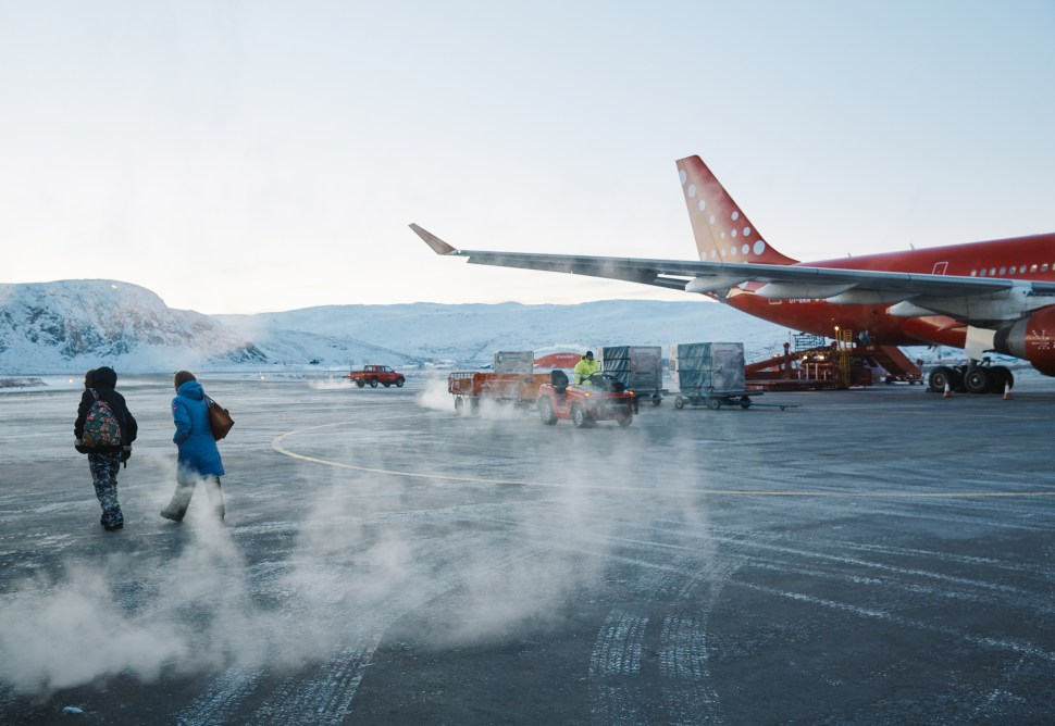 Kangerlussuaq Airport in Greenland by Axel Sig