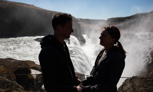 Under The Rainbow: A Morning Walk Around Gullfoss