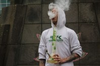4/20 Weed Protest Austurvöllur -