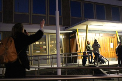 Protest outside police station 2015 by Rebecca Conway