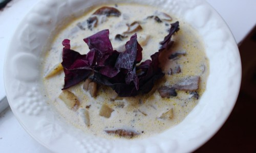Soup Tuesday: Sveppa Og Sala Súpa, Mushroom And Dulse Súpa