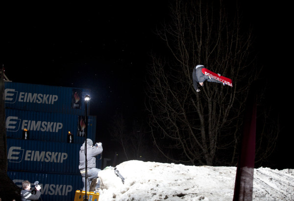Snowboarding by Erlendur Magnússon