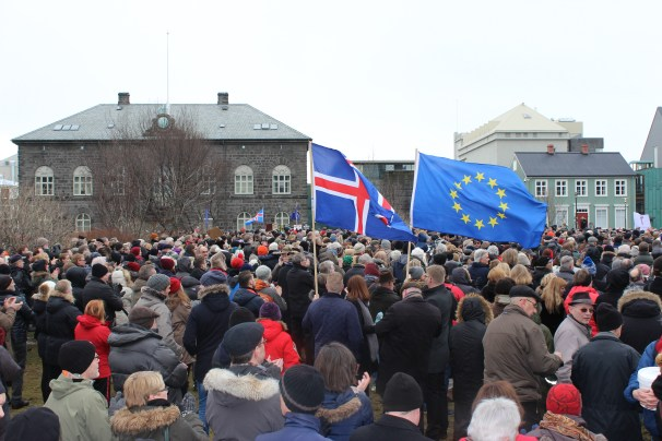 EU protests at Alþingi on March 15, 2015, by Jón Benediktsson