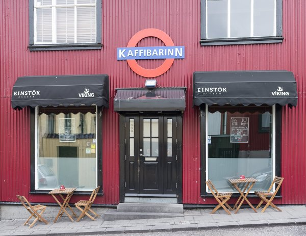 An exterior picture of the Kaffibarinn
