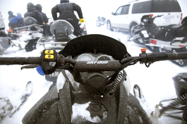 Snowmobiling by Morgan Levy