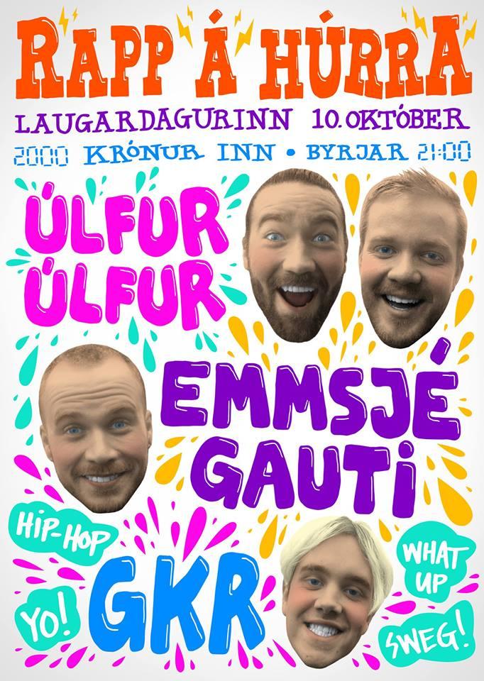 Happening Tonight: Emmsjé Gauti / Úlfur Úlfur / GKR