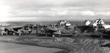 P-38F Lightings refuel in Iceland on their way to Britain, mid-1942. Note PBY Catalina. ww2dbase Source ww2dbaseUnited States National Archives via D. Sheley
