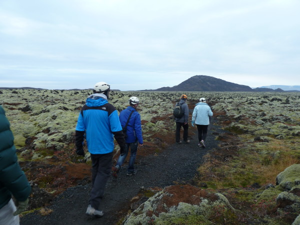 The journey through the lava fields