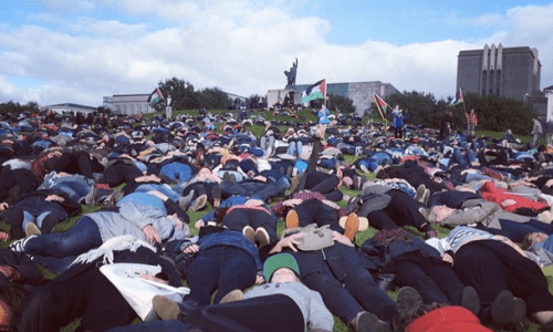 "3000 People Attend Gaza ""Die In"""