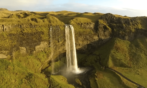 Tourist Takes Drone Footage Of Iceland