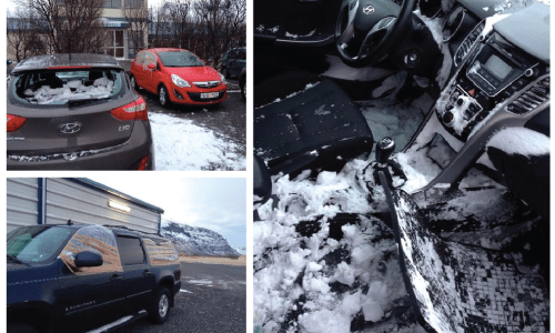 Tourists Rentals Pelted By Rocks, Cars Fill With Snow