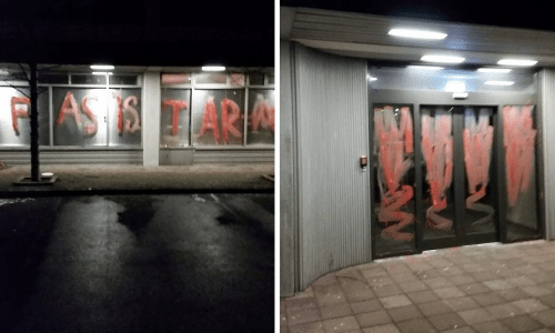 Directorate Of Immigration Are Fascists, Say Vandals